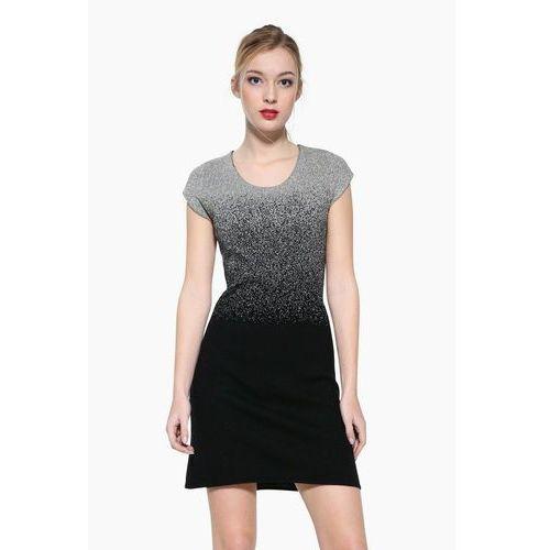 Desigual HEATHER Sukienka dzianinowa black