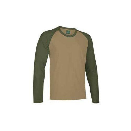 T-shirt koszulka długi rękaw dwukolorowy xs-2xl break xs wielbladzi-oliwkowy marki Valento