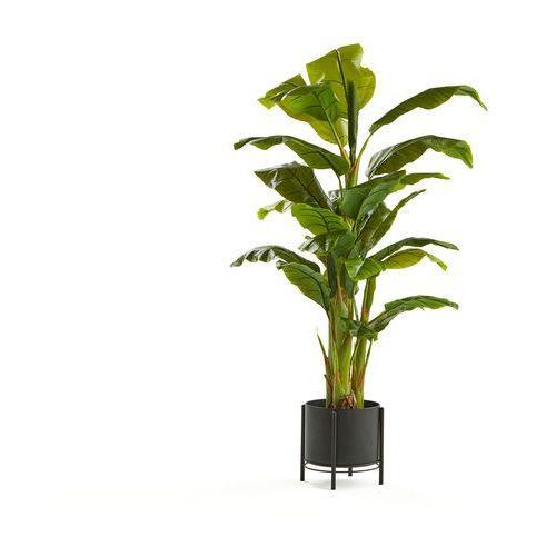 Bananowiec, 1500 mm, czarna stalowa donica na nodze marki Aj produkty