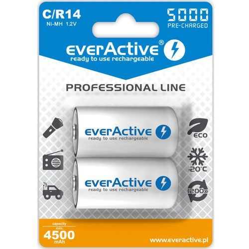 "Everactive 2x r14/c ni-mh 5000 mah ready to use ""professional line"""