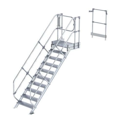 Przemysłowy pomost roboczy, moduł do schodów, 9 stopni. najwyższa elastyczność d marki Günzburger steigtechnik