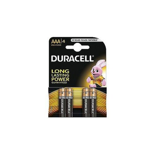 Baterie alkaliczne basic aaa lr03 1,5v, 4 szt. marki Duracell