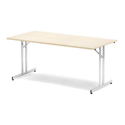 Stół konferencyjny emily, składany, 1800x800x720 mm, brzoza, chrom marki Aj produkty