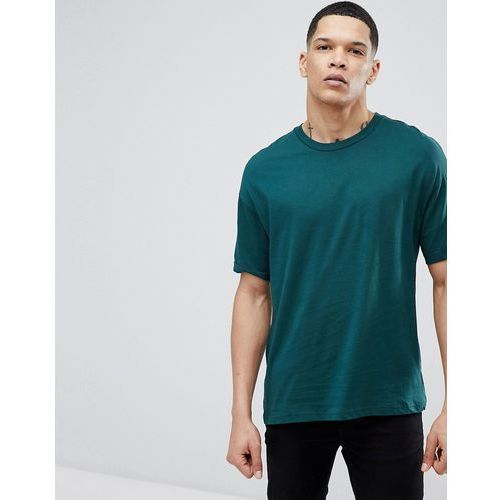 Bershka Oversize Fit T-Shirt In Green - Green