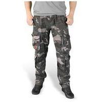 Spodnie surplus airborne slimmy black camo washed (05-3603-42), Surplus / niemcy, L-XXL