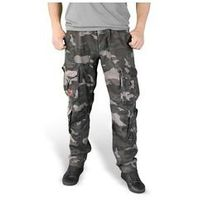 Spodnie surplus airborne slimmy black camo washed (05-3603-42), Surplus / niemcy, M-XXL