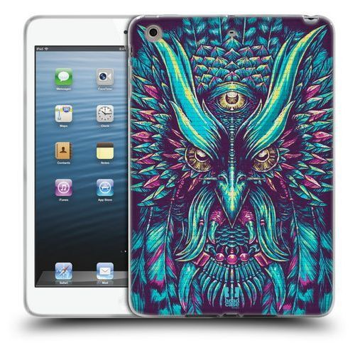 Head case Etui silikonowe na tablet - ethnic owls blue and pink