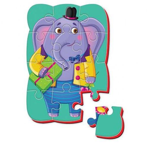 Magnesy piankowe puzzle A5 Śmieszne zdjęcia Słonik, RK1302-03