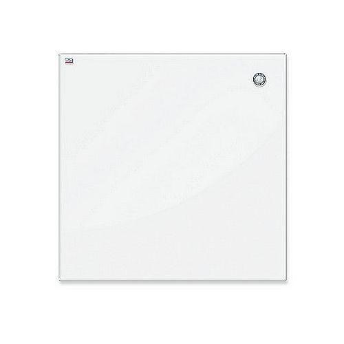 Tablica szklana magnetyczna suchościeralna100x100cm biała tsz1010w marki 2x3