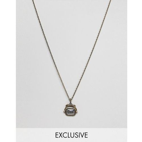 inspired necklace with spinning coin pendnat exclusive at asos - gold marki Reclaimed vintage