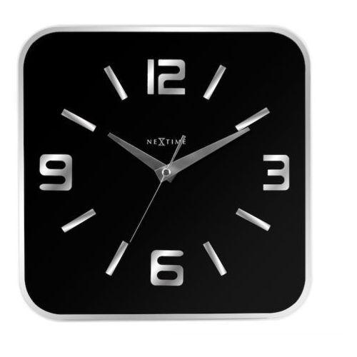 :: zegar ścienny shoko 43 x 43 cm czarny marki Nextime