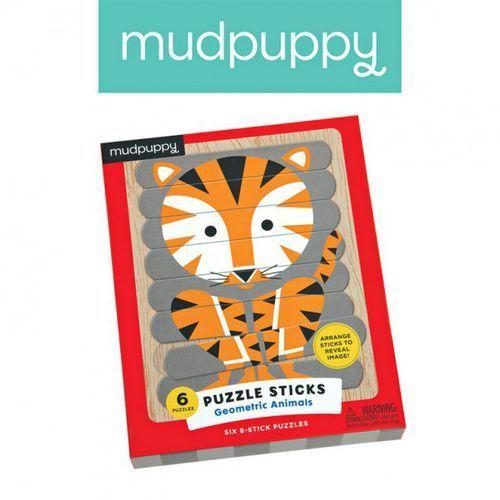 Mudpuppy puzzle patyczki geometryczne zwierzęta 24 elementy 3+