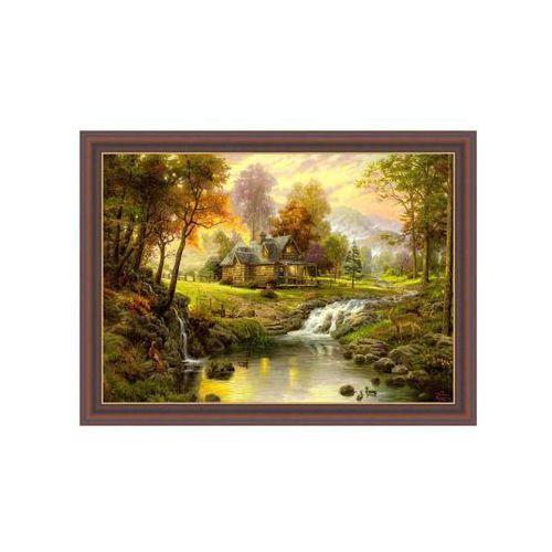 Obraz pejzaż z sarnami thomas kinkade 78,5 x 58,5 cm marki Nielsen