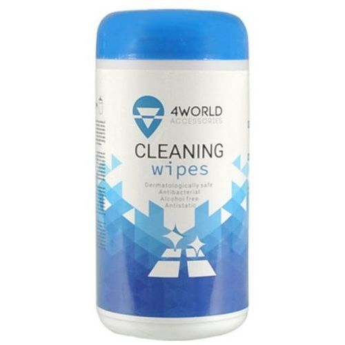 4world Ściereczki czyszczące nawilżane 100 sztuk
