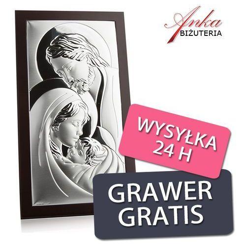 Obrazek srebrny święta rodzina 14 cm *26 cm marki Valentini. Najniższe ceny, najlepsze promocje w sklepach, opinie.