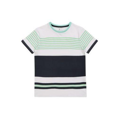 NAME IT Koszulka niebieska noc / miętowy / biały, kolor zielony