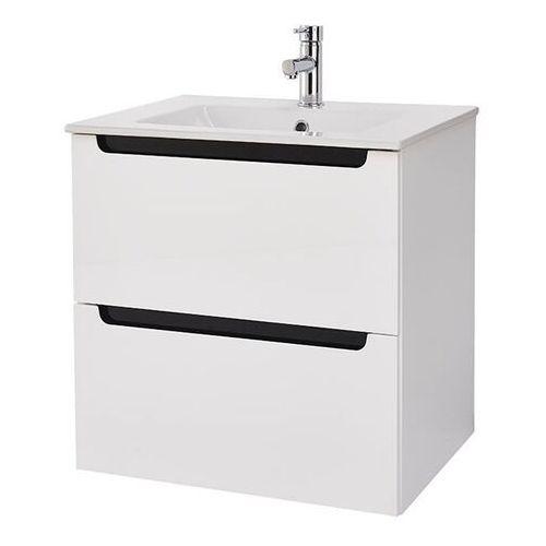 Deftrans Zestaw szafka z umywalką milano 60 cm biały (5906365433765)