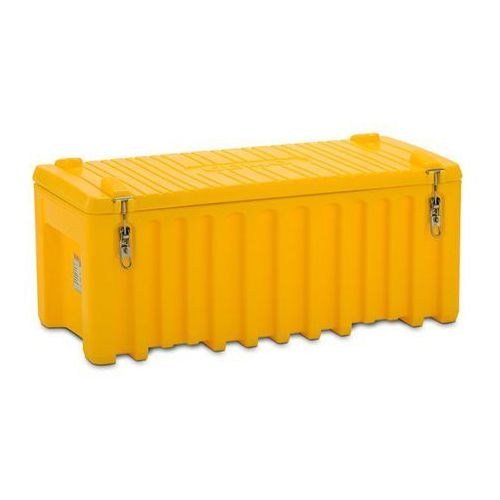 Pojemnik uniwersalny z polietylenu, poj. 250 l, nośność 200 kg, żółty. Optymalne