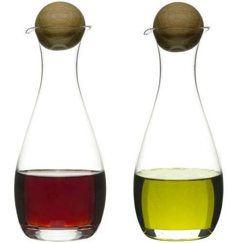 Sagaform Karafki na oliwę i ocet z dębowym korkiem oak 2 sztuki (sf-5015337) (7394150153376)