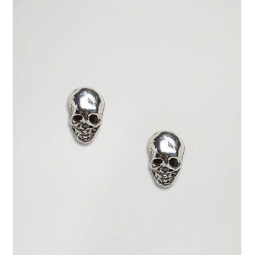 Kingsley Ryan Sterling Silver Skull Stud Earrings - Silver