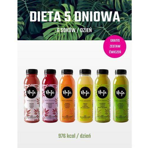 Dieta 5 dniowa / dieta sokowa / detoks sokowy marki Nuja