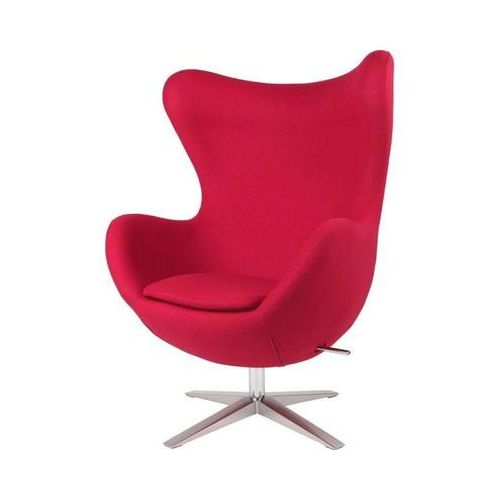 Fotel Jajo szeroki wełna czerwony JA-2712, D2-4228