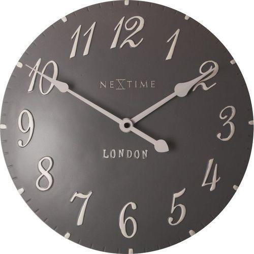 Nextime - zegar ścienny london arabic - grafitowy