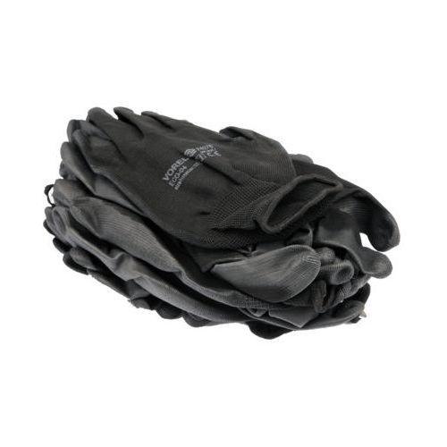 Rękawice robocze 74078 czarny (12 sztuk) marki Vorel