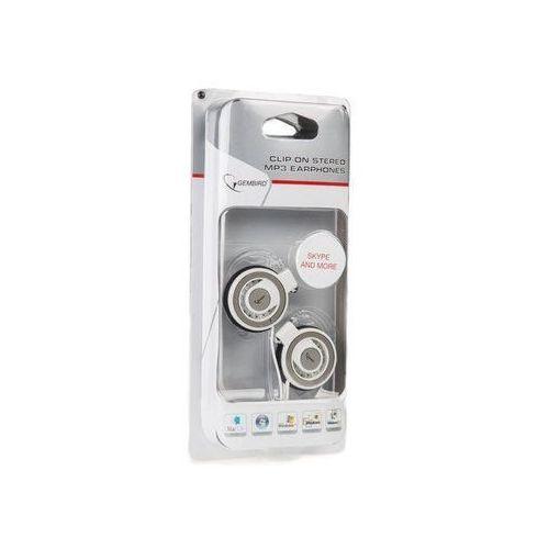Gembird Słuchawki GEMBIRD Jack 3.5mm stereo, douszne, klip za ucho, białe, 1.8m - MP3A-HS3