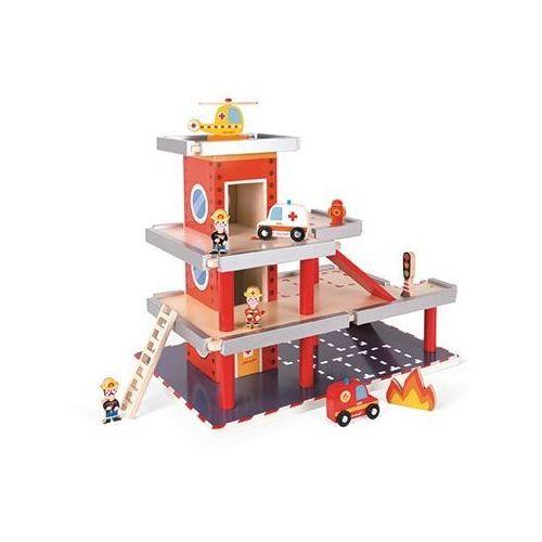 Janod  - remiza garaż drewniany z 10 akcesoriami (3700217357177)
