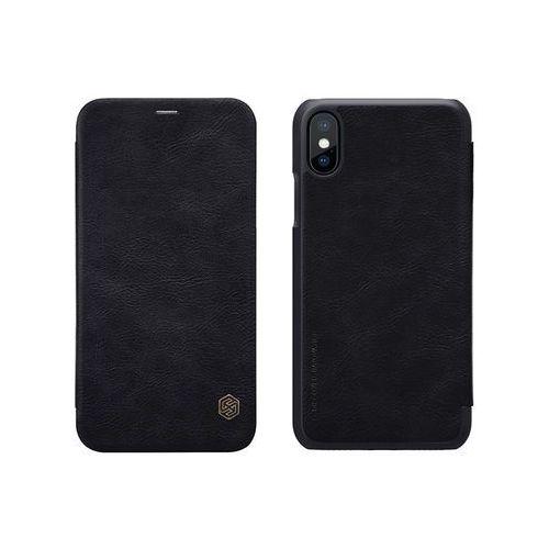 Apple iPhone X - etui na telefon Nillkin Qin - czarne, kolor czarny