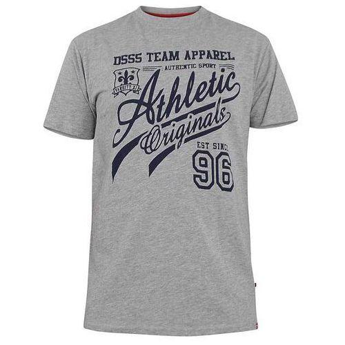 T-shirt męski szary D555 Liberty - 3XL-6XL