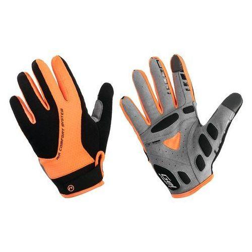 Accent 610-80-56_acc-m rękawiczki z długimi palcami champion czarno-pomarańczowe m (5902175633388)