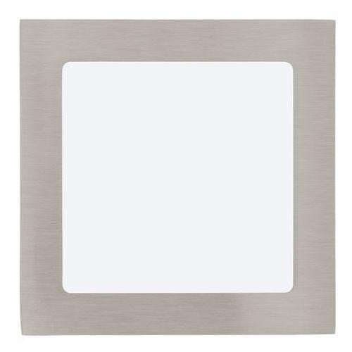 Plafon lampa sufitowa oprawa downlight oczko Eglo Fueva 1 1x10,9W LED nikiel mat / biały kwadr.31674