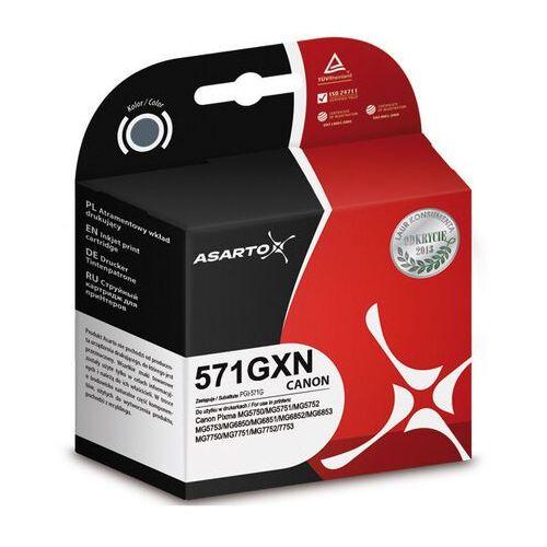 Asarto  zamiennik cli-571g xl tusz szary do canon pixma mg7750 ts8050 ts9050 - 11.8ml, kategoria: tusze
