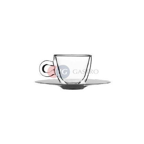 Filiżanka do espresso 0,065l ze spodkiem ze stali nierdzewnej luigi bormioli 400901, marki Stalgast