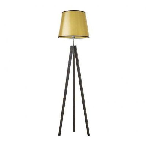 Light flower Lampa stojąca drewniana holly lumiere abażur stożek