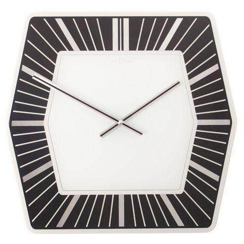 Zegar Nextime Hexagon 43x43 cm black