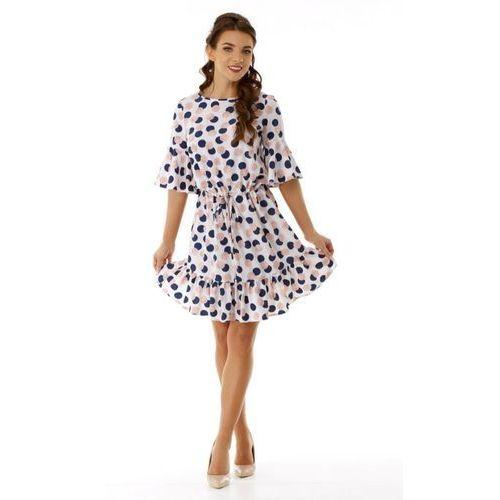 482c3c0b44 Sukienka z rozkloszowanymi rękawkami i l.