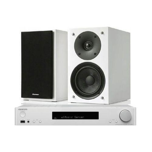 Zestaw stereo tx-l20d biały + pioneer s-p01-lr biały marki Onkyo