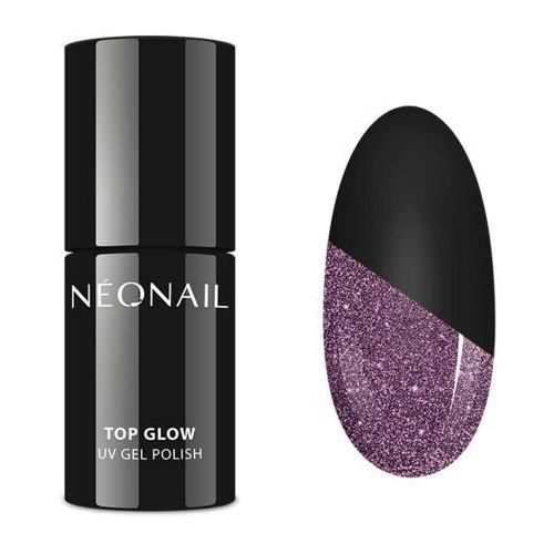 lakier hybrydowy 7,2 ml - top glow sparkling marki Neonail