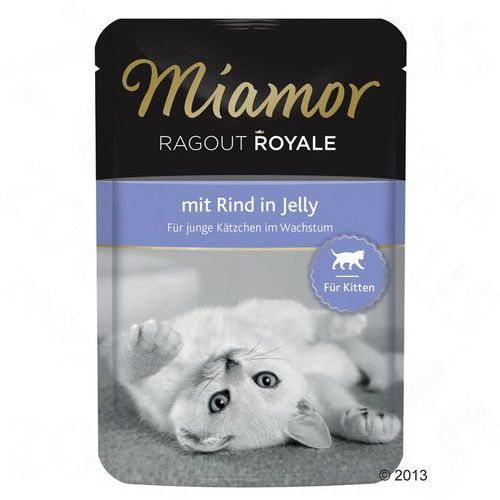 ragout royale kitten smak: wołowina - saszetka 100g marki Miamor