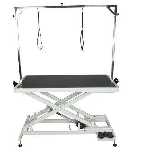 Shernbao Stół z podnośnikiem elektrycznym, blat 125x65 cm, regulacja wys. 25x95 cm