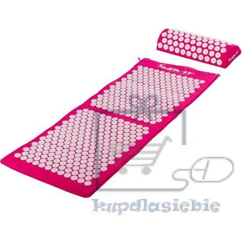 Mata akupresurowa z poduszką 130 x 50 cm - różowa marki Movit
