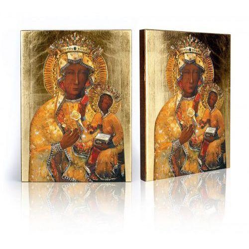 Ikona Matka Boża Częstochowska w sukience bursztynowej