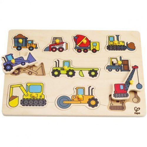 Hape Puzzle pojazdy budowlane (6943478003682)