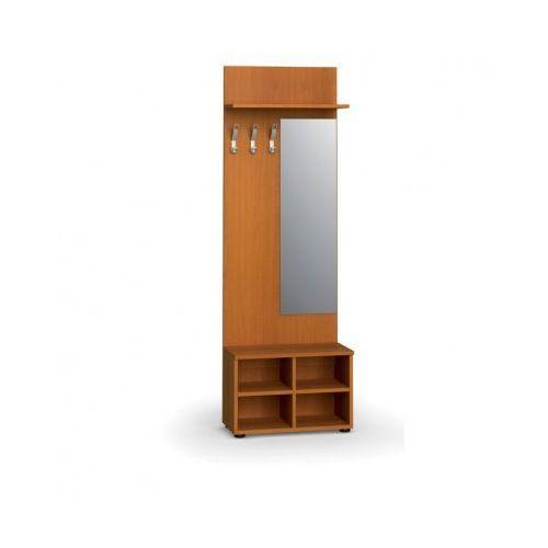 Garderoba z półką na buty i lustrem, 3 haczyki, półka, czereśnia