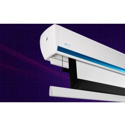 Ekran ścienny elektrycznie rozwijany z napinaczami stratus 2 tension,270x152cm,16:9,matt white marki Avers