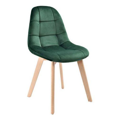 Krzesło Austin Ciemnozielone Velvet, kolor zielony