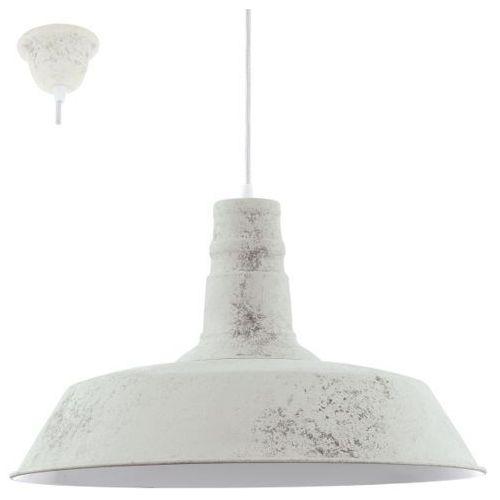 lampa wisząca SOMERTON 1 wapienny biały, EGLO 49398
